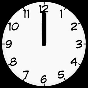 12 05 clock clipart svg royalty free stock 12 O Clock Clip Art at Clker.com - vector clip art online, royalty ... svg royalty free stock