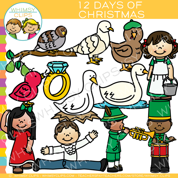The twelve days of christmas clipart clipart library stock Twelve Days of Christmas Clip Art , Images & Illustrations | Whimsy ... clipart library stock