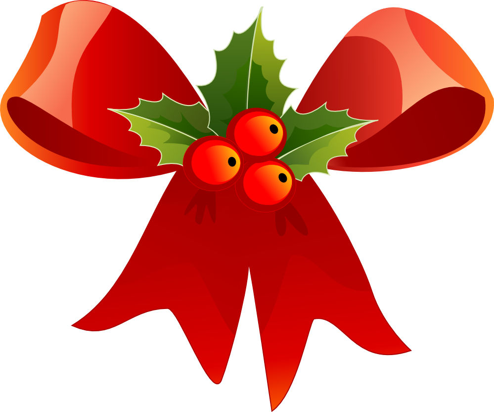 12 days of christmas clipart free royalty free library CHRISTMAS RED BOW AND HOLLY CLIP ART | CLIP ART - CHRISTMAS 1 ... royalty free library