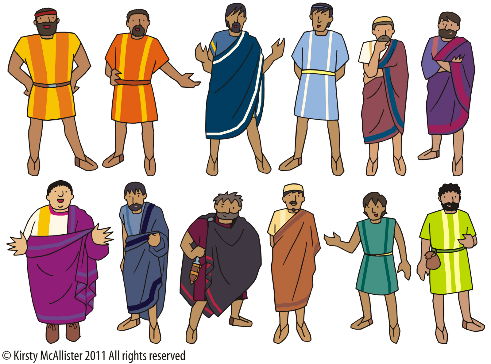Free clipart jesus disciples jpg library stock The 12 disciples -- print and laminate with magnet paper | Bible ... jpg library stock