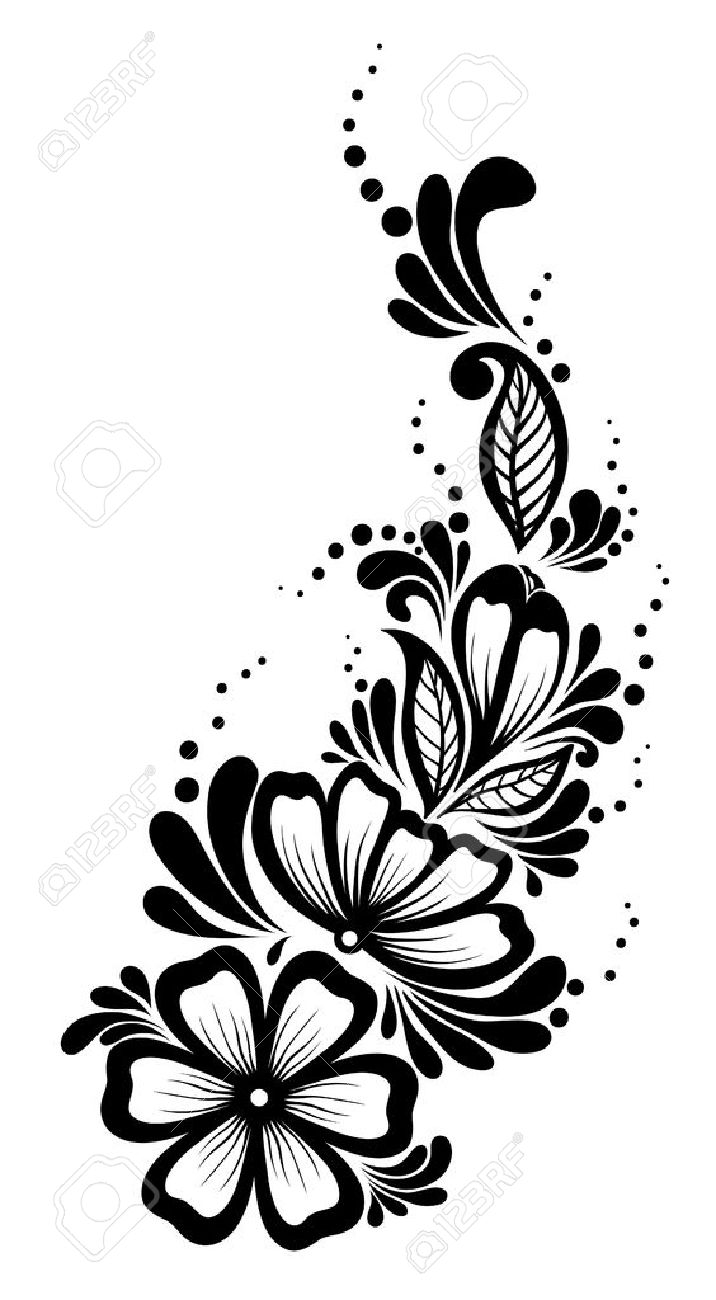 12 leaf flower clipart black and white clip art transparent 22032845 Beautiful Floral Element Black And White Flowers Leaves ... clip art transparent