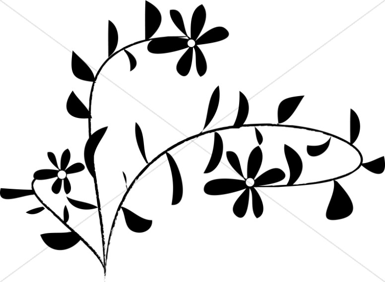 Black And White Daisy Accent Church Flower Clipart Incredible Clip ... clip library stock