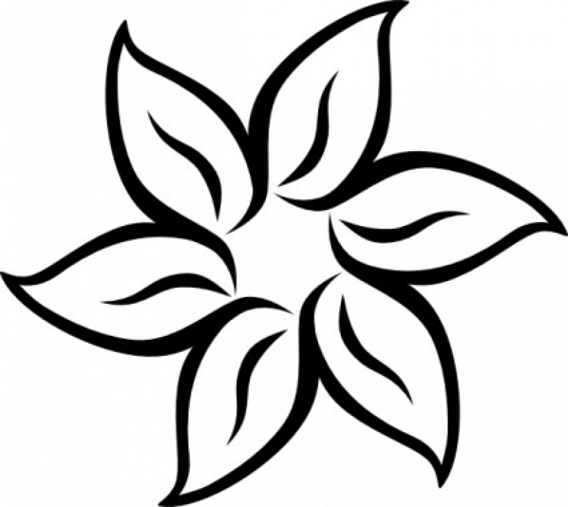 Free black & white flower clipart png free Flower black and white flower clipart black and white 7 - Cliparting.com png free