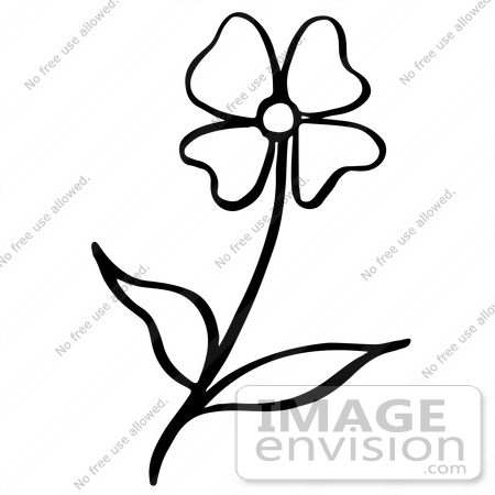 12 leaf flower clipart black and white