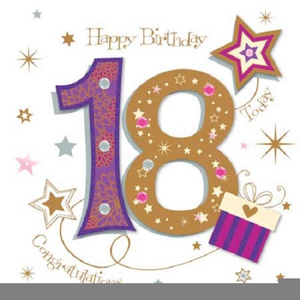 Free 18th birthday clipart
