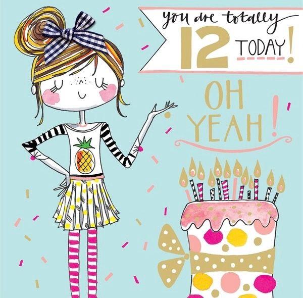 12 th birthday girl clipart