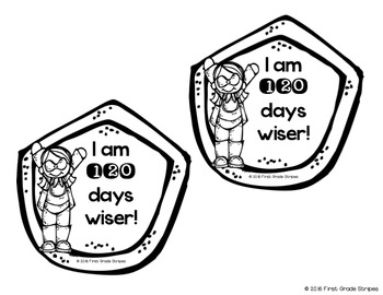 120 days smarter clipart clip art transparent download I am 120 Days Smarter! Badge, Cuff, and Hat/Crown clip art transparent download