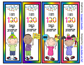 120 days smarter clipart vector library download 120 Days of School Bookmarks - 4 Designs -2 sayings to choose from vector library download