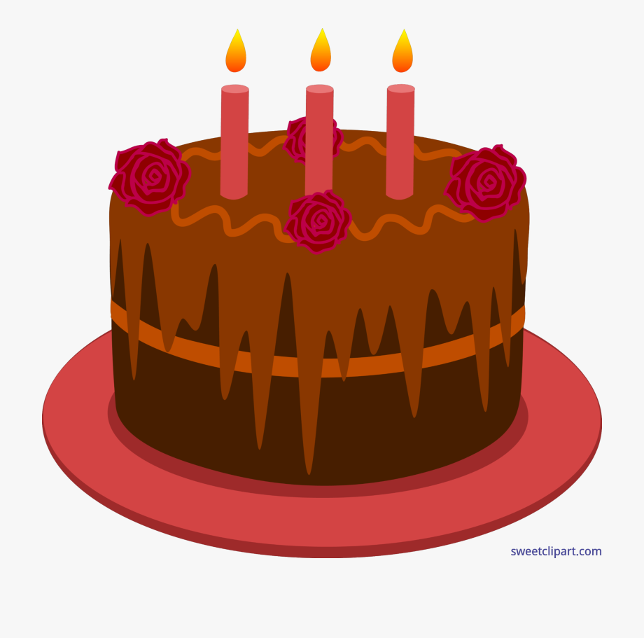 Free Clipart Birthday Cake With Candles - Birthday Cake Red Clip Art ... transparent download