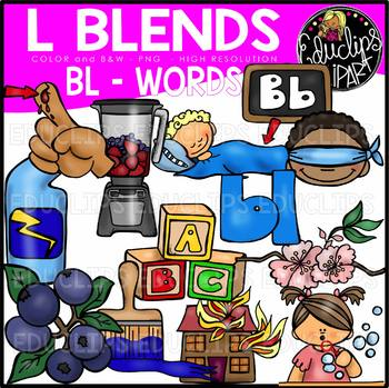 13 in words clipart svg transparent stock L Blends BL Words Clip Art Bundle {Educlips Clipart} svg transparent stock