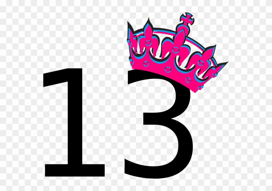 13th birthday clipart png library library Number 13 Clipart - It\'s My Birthday 13 - Png Download (#165686 ... png library library