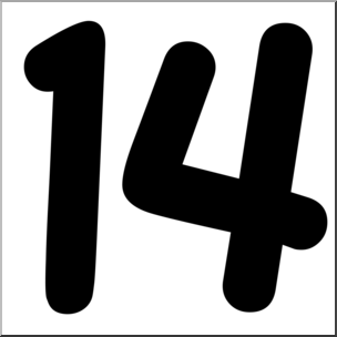 Clipart 14 graphic stock Number 14 Clipart | Free download best Number 14 Clipart on ... graphic stock