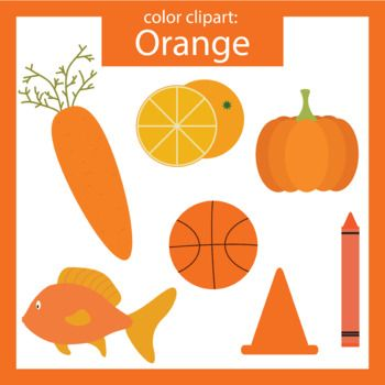 14 objects clipart picture freeuse library Color Clip art: orange objects | teachers pay teachers products ... picture freeuse library