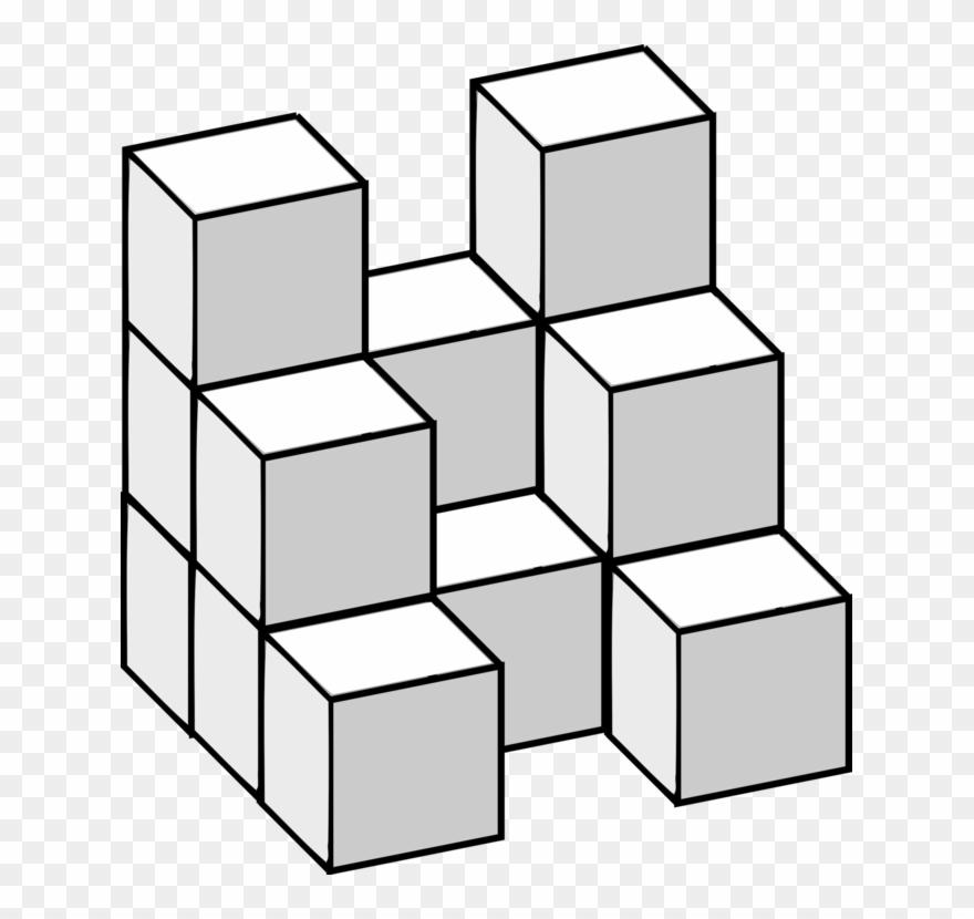 14 snap cubes clipart download Line Rectangle Geometry Prism - Hidden Cubes Clipart (#144958 ... download