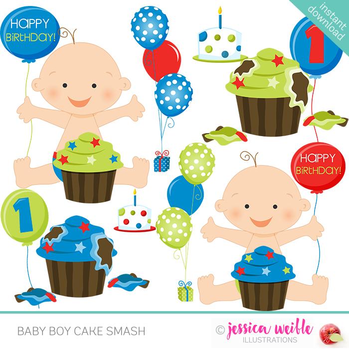 14 year boy birthday clipart svg library Baby Boy Cake Smash svg library