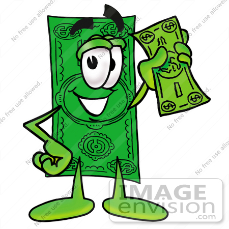 15 bills clipart graphic freeuse download Clip Art Graphic Of A Flat Green Dollar Bill Cartoon Character ... graphic freeuse download