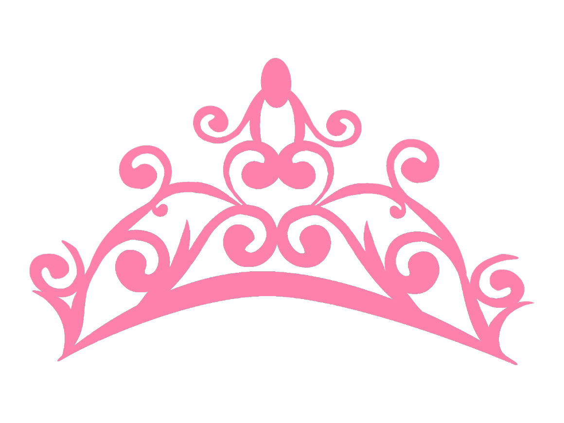 Pink gold crown clipart