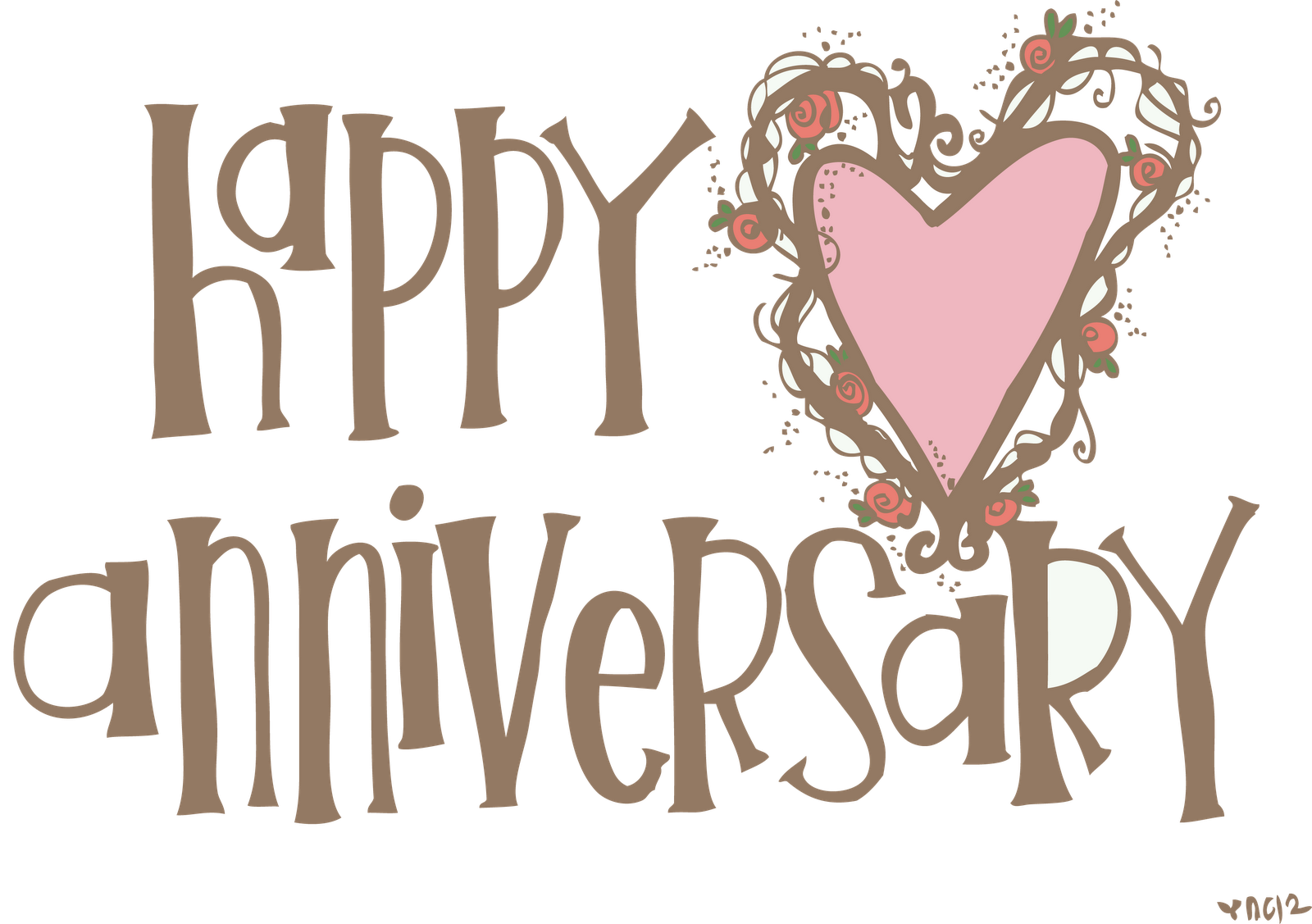 Free 2nd year anniversary clipart vector transparent 16+ Free Happy Anniversary Clip Art | ClipartLook vector transparent