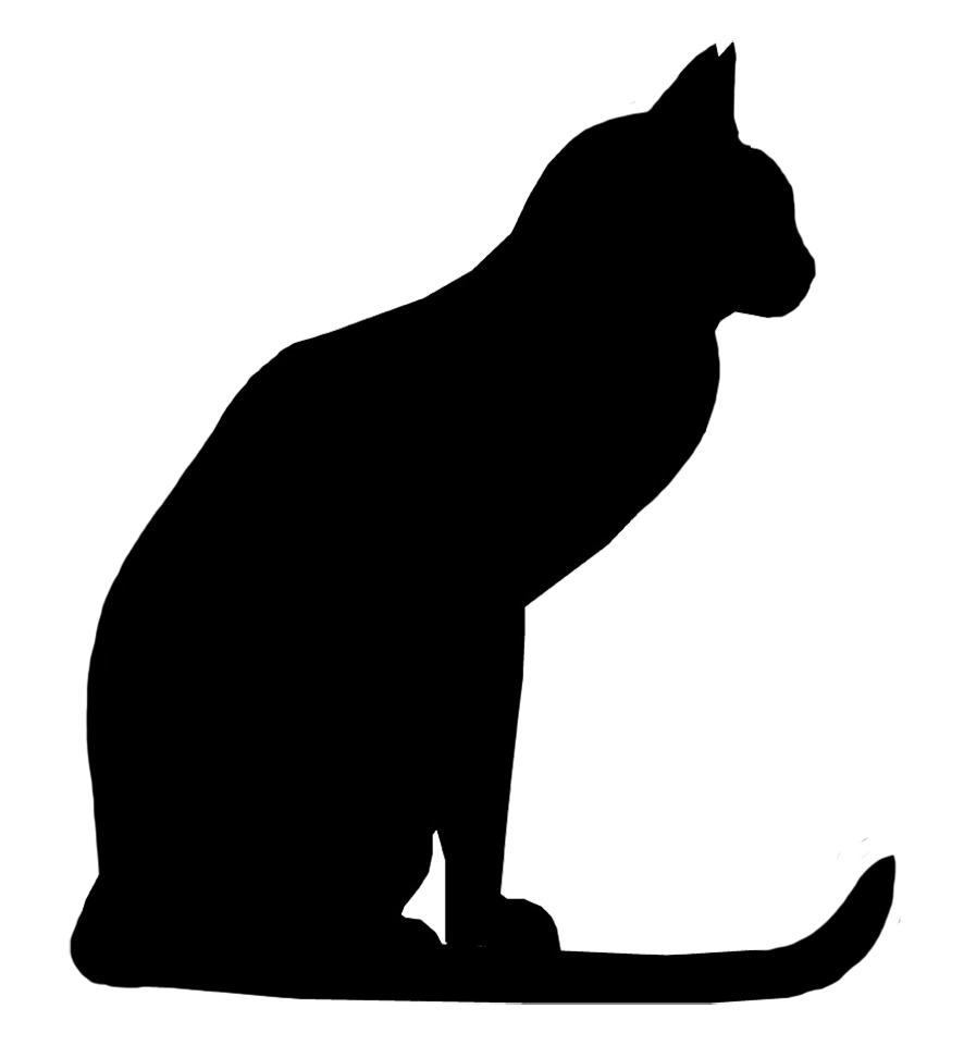 Peeking cat clipart jpg black and white library Cat Silhouette Images - Cliparts.co | Voodoo Girl | Pinterest | Cat ... jpg black and white library