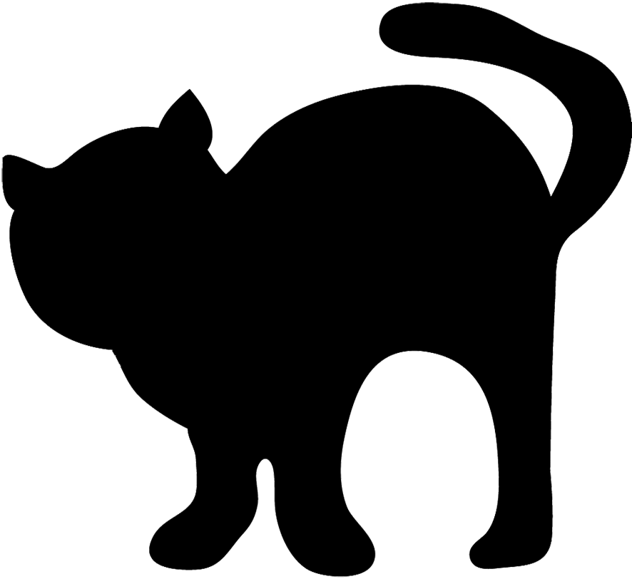 Cat head clipart black and white jpg transparent download Cute Cat Silhouette at GetDrawings.com | Free for personal use Cute ... jpg transparent download