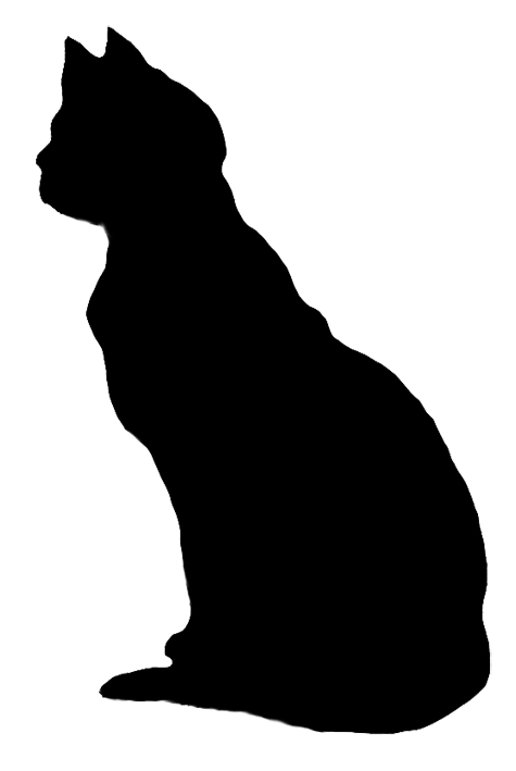 Cat being petted black and white clipart free library cat silhouette clip art | cat-silhouette-looking-cat.png | cat ... free library