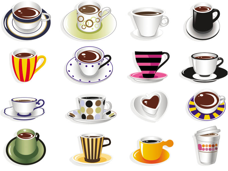 16 objects clipart clipart black and white library Coffee Materials Cliparts - Cliparts Zone clipart black and white library