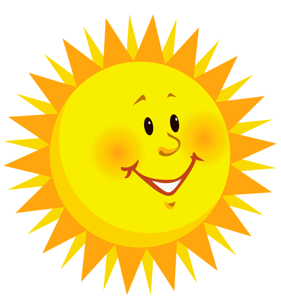 Smiley face sun clipart