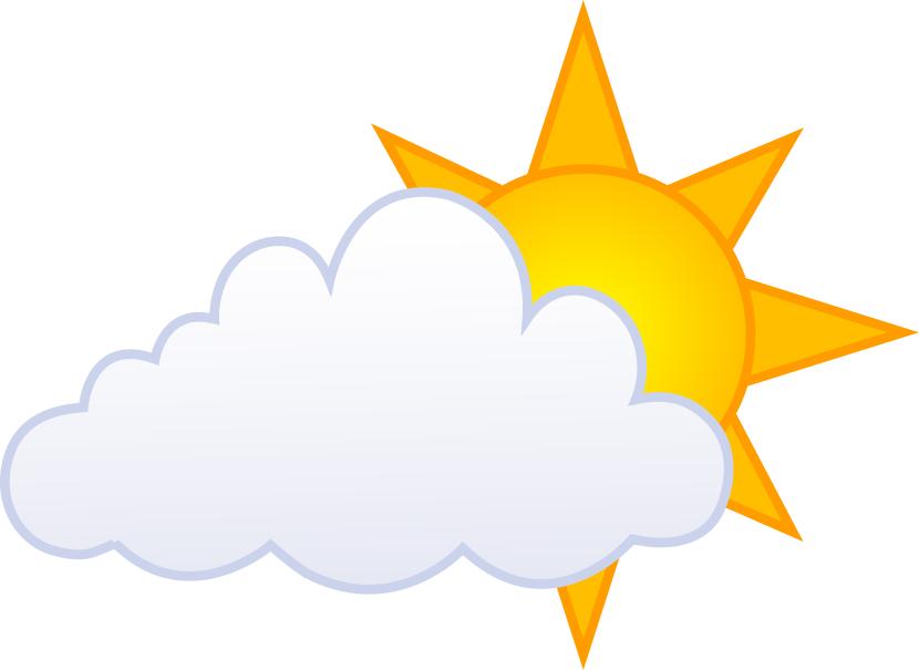 Sun with clouds infront clipart picture free library Sun Moon Stars Clipart at GetDrawings.com | Free for personal use ... picture free library