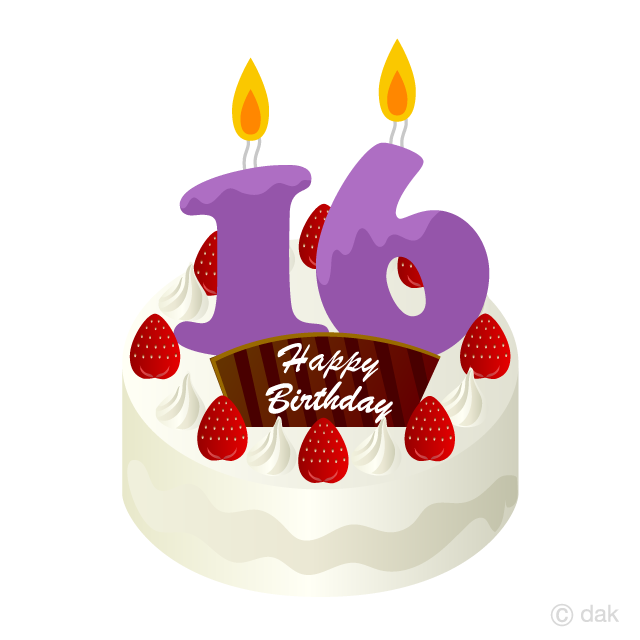 16 year old clipart clipart library download 16 Years Old Candle Birthday Cake Clipart Free Picture Illustoon clipart library download