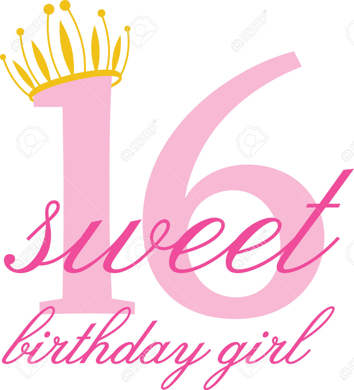 16th birthday clipart simple graphic free stock Sweet 16 Clipart | Free download best Sweet 16 Clipart on ClipArtMag.com graphic free stock