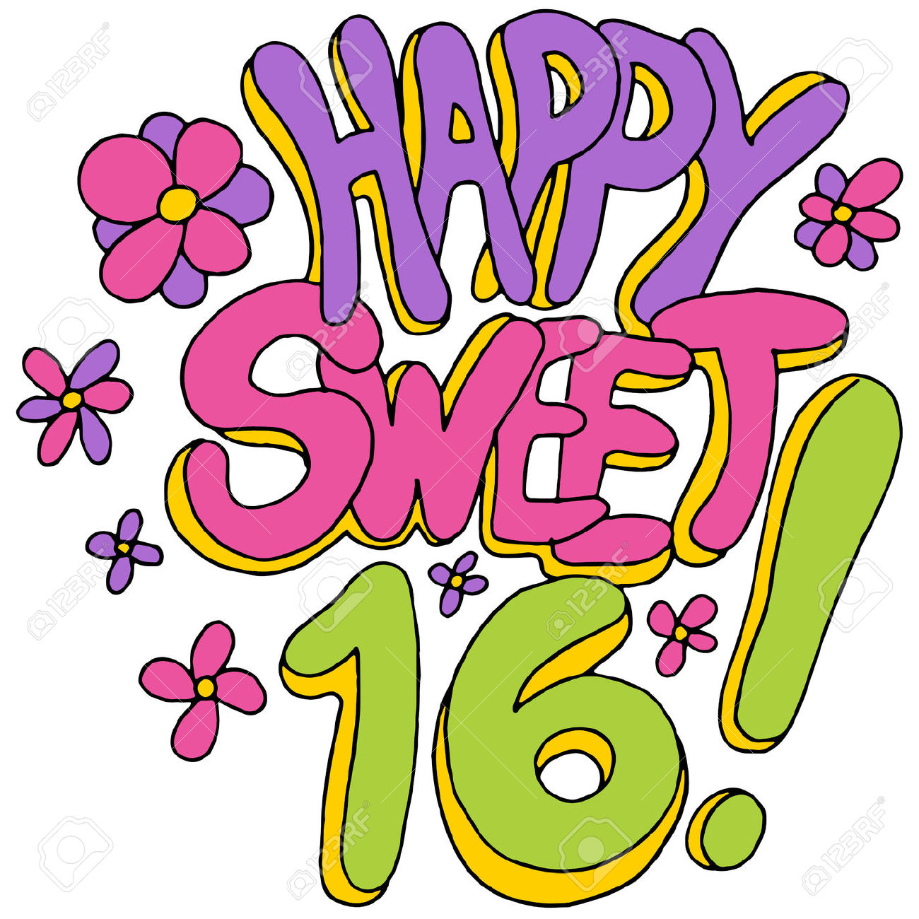 16th birthday clipart simple vector royalty free Sweet 16 Clipart | Free download best Sweet 16 Clipart on ClipArtMag.com vector royalty free