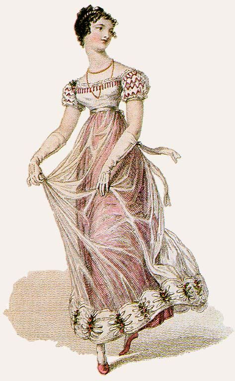 1700 s regency era free clipart png black and white Regency Fashion: The Muslin and Net Period | Historical Costume ... png black and white