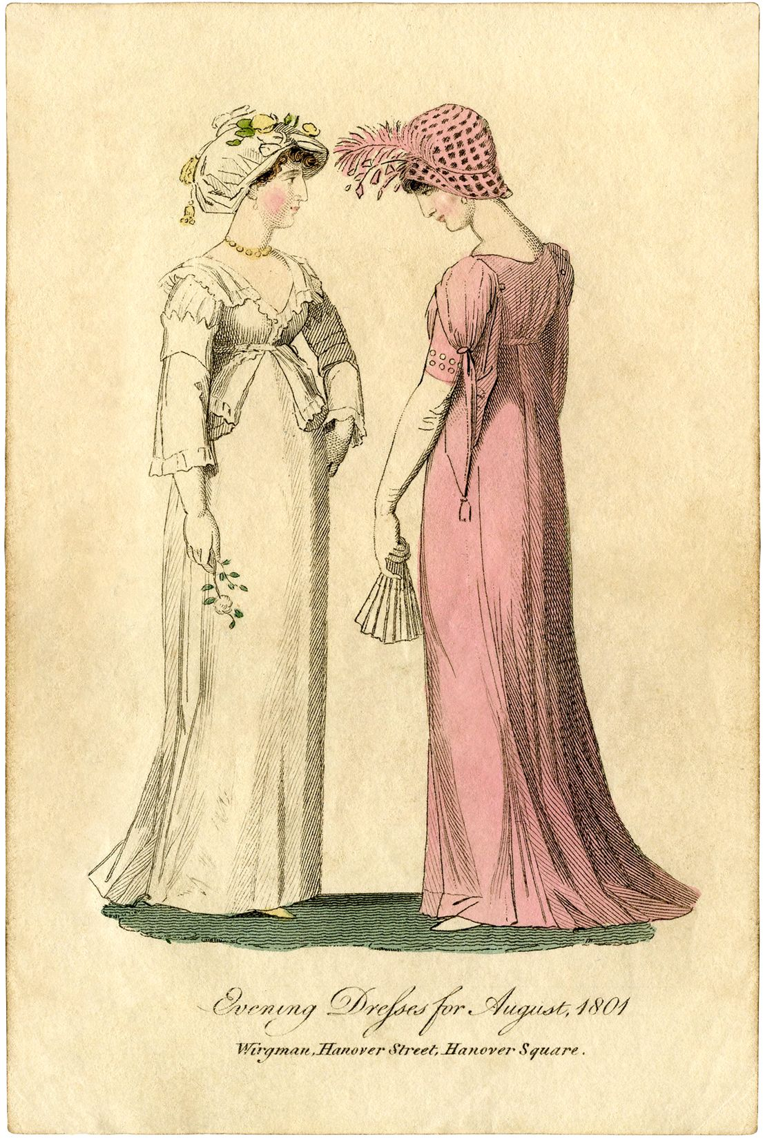 1700 s regency era free clipart picture free library Regency Fashion Plate - Jane Austen-esque | Vintage printables and ... picture free library