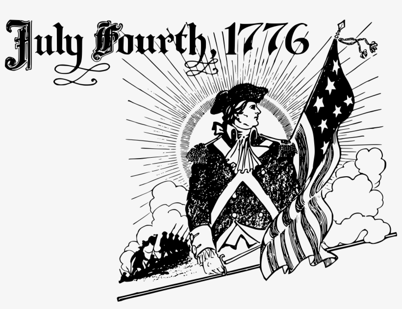 1776 clipart vector free download Independence Day Clipart Small - July 4th 1776 Black And White ... vector free download