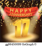17th anniversary clipart svg black and white 17Th Anniversary Clip Art - Royalty Free - GoGraph svg black and white