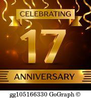 17th anniversary clipart jpg royalty free download 17Th Anniversary Clip Art - Royalty Free - GoGraph jpg royalty free download