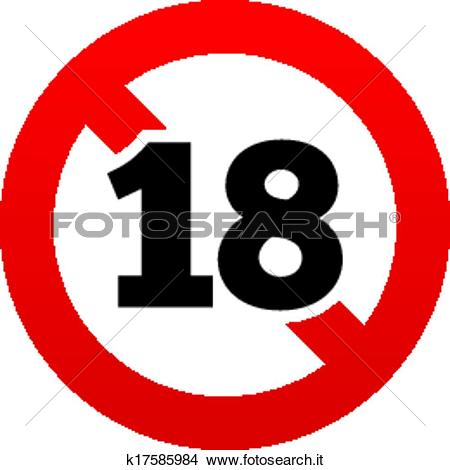 Clipart - no, 18 anni vecchi, segno., adulti, contenuto, icon ... banner free stock