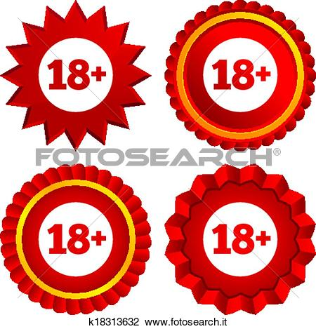 Clipart - 18 anni vecchi, segno., adulti, contenuto, icon ... clipart freeuse