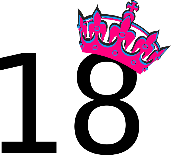 18 clipart. Pink tilted tiara and