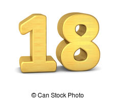 Number illustrations and royalty. 18 clipart