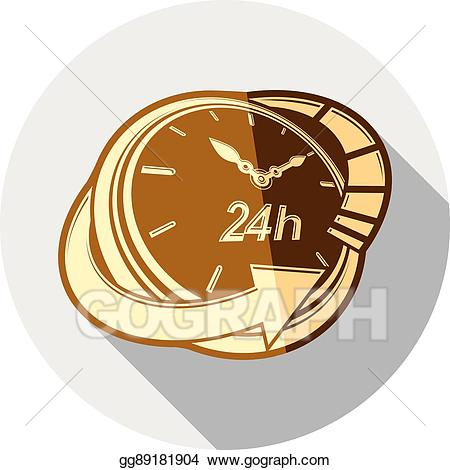 18 long hours clipart library Vector Clipart - 24 hours-a-day interface icon, 3d clock. time is ... library