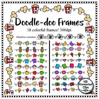 18 long hours clipart clip art library library 18 Colorful Doodle-doo Frames - Blackline too | Clip Art ... clip art library library