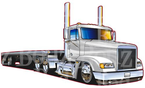 18 wheel clipart black and white Freightliner 18-wheeler Clipart - Clipart Kid | Semi Truck Drawings ... black and white
