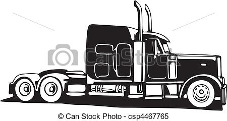 clipart vector and. 18 wheeler clip art