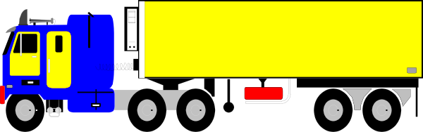at clker com. 18 wheeler clip art