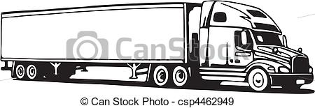 18 wheeler clip art.  clipartfest side view