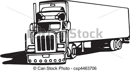 18 wheeler clip art.  clipart vector and