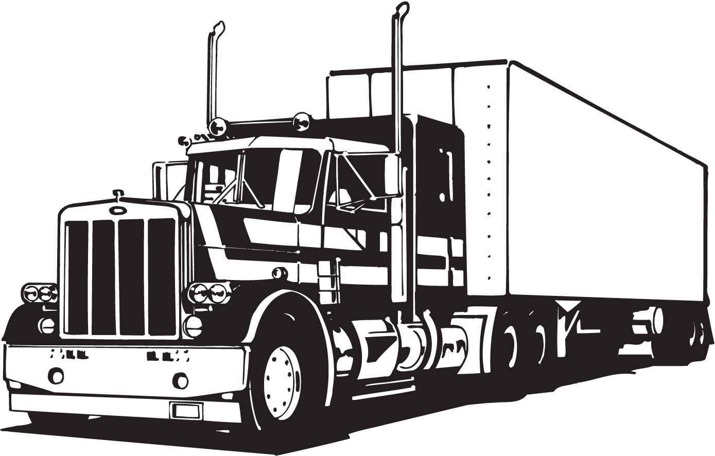 Free 18 Wheeler Truck Silhouette, Download Free Clip Art, Free Clip ... vector royalty free download