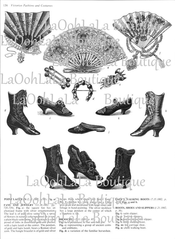 1800s shoe clipart banner free 1880s Victorian Shoes & Fans Digital Printable Clipart Gothic High ... banner free