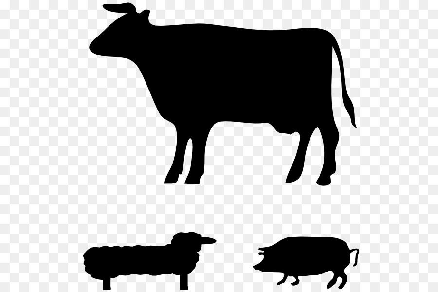 1849 free clipart jpg free library Ayrshire cattle Angus cattle Silhouette Clip art - cattle png ... jpg free library